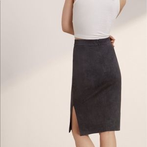 Wilfred FREE faux shade pencil skirt burgundy